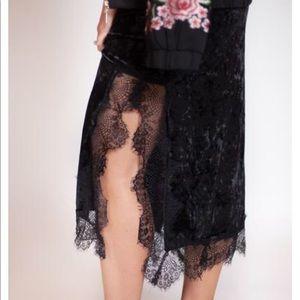 Dresses & Skirts - Velour Lace Maxi Dress